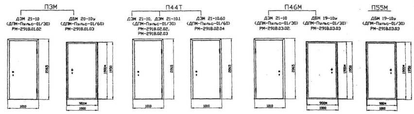 входные металические двери габариты